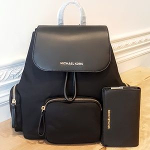 NWT Michael Kors Backpack & Wallet